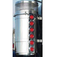"""Freightliner 13"""" Donaldson Rear AC Light Bars"""