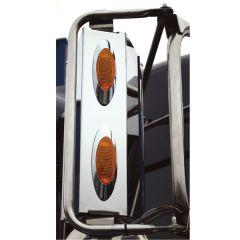 Peterbilt Mirror Light Box with Two LED Lights