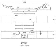 "Kenworth T800B 14"" Open End Chrome Bumper"