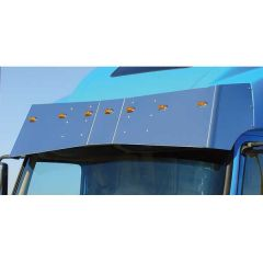 Volvo VT, VN Bow-Tie Drop Visor with LED Lights