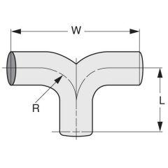 6-inch OD Inlet, 6-inch OD Outlet Steel Y-Divider