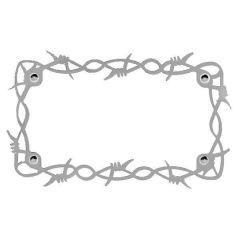 Barbed Wire Motorcycle License Plate Frame