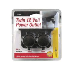 12 Volt Double Plug In Power Outlet