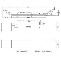 Kenworth T800 Widenose 14-Inch Open End Bumper