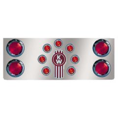 Stainless Kenworth Rear Center Panel with Cutouts