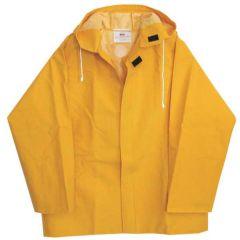 Large 50mm PVC Yellow Rain Jacket