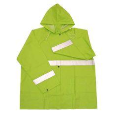 X-Large 35mm PVC Fluorescent Green Rain Jacket
