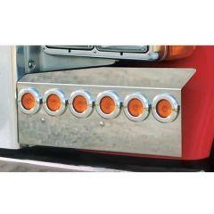 Peterbilt Fender Guards w/ 2-Inch Round LED Lights