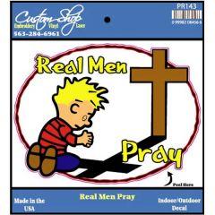 Real Men Pray Decal