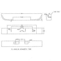 Kenworth T300 13-Inch Set Forward Chrome Bumper