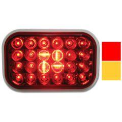 """5-5/16"""" x 3-7/16"""" 24 LED Pearl Rectangular Light"""