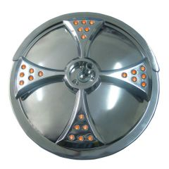 """8"""" Convex Blind Spot Mirror with Maltese Cross LED"""