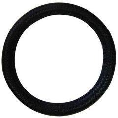 "Deluxe Black Woven Rope Steering Wheel Cover 15"""