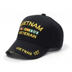Vietnam Veteran Black Shadow Cap