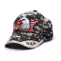 U.S.A. Bald Eagle American Flag Digital Camo Cap