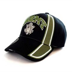 US Army Black/Olive Cap with Metal Logo