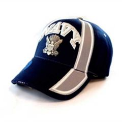 US Navy Blue Cap with Metal Logo