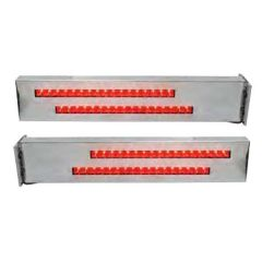 SS Two-Piece Rear Light Bars with LED Strips