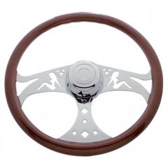 FL 1989-2006 Sitting Lady Steering Wheel 18""
