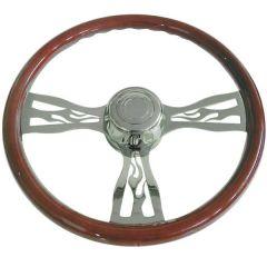 """Freightliner 18"""" Flame Spoke Steering Wheel"""