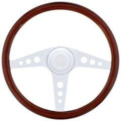 """Freightliner 3 Spoke GT Wood Steering Wheel 18"""""""