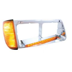 Freightliner FLD Headlight Bezel with Turn Signal and LED