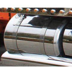 Peterbilt 75 Gal. P/S Stainless Steel Fuel Tank Wrap