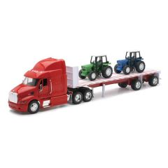 Peterbilt 387 Flatbed with Farm Tractors Truck