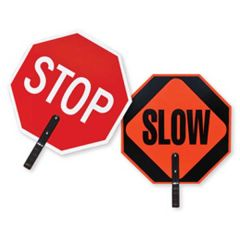 Double Sided Stop/Slow Traffic Paddle
