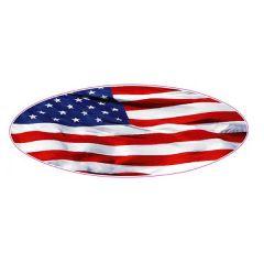 American Flag Peterbilt Hood Emblem Decals (pr)