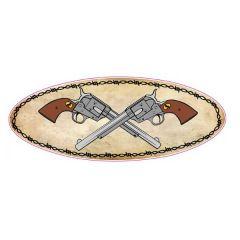 Crossed Pistols Peterbilt Hood Emblem Decals (pr)