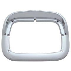 "8"" x 6"" Single Chrome Headlight Bezel w/ Visor"