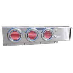 """SS Spring-Loaded Rear Light Bars 2 1/2"""" Spacing"""
