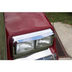 Dual Rectangular Single Point Headlight Visors