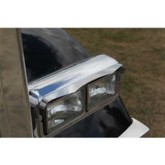 Dual Rectangular Double Point Headlight Visors