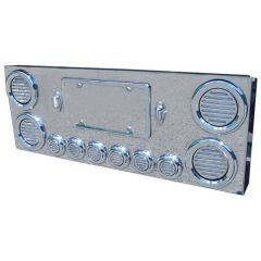 """SS Rear Center Panel with 4"""" and 2"""" Flatline LED"""