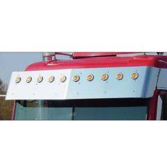 """Freightliner FLD 14.5"""" Drop Visor 2"""" Round Lights"""