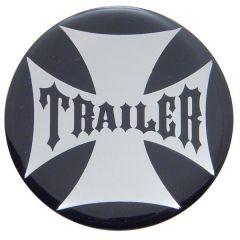 """Trailer"" Maltese Cross Air Valve Knob Sticker"
