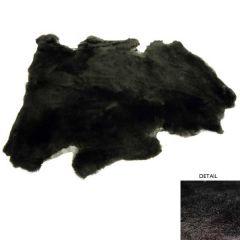 Black 1-Inch Shorn Sheepskin Pelt