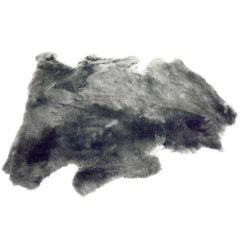Silver 1-Inch Shorn Sheepskin Pelt