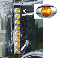 """Peterbilt 15"""" Preminum Donaldson Front Air Cleaner Lights"""