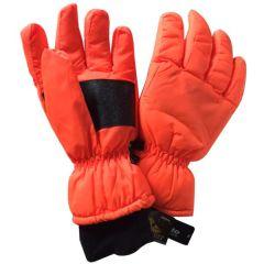 Orange Blaze Ski Gloves