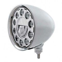 Chrome Chopper LED Headlight