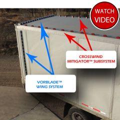 VorBlade Trailer Wing System w/Crosswind Mitigator