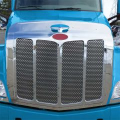 Peterbilt 579 Grill Surround and Bugshield