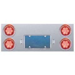 Stainless Steel Rear Center Panel w/4 LED Lights
