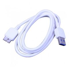 White Samsung Galaxy Note 3 USB Data Cable