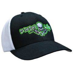 Diesel Life Black/Green Flex Fit Trucker Hat