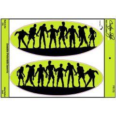 Zombie Peterbilt Hood Logo Decals (pr)