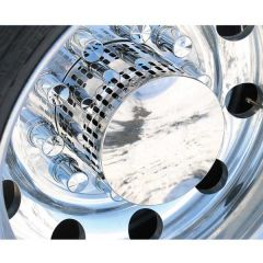 Polished Stainless Steel Multi-Fit Hub Cover